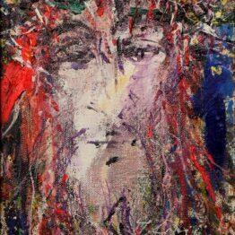 Hubert-Čepiššák-–-Tŕním-korunovaný-olejomaľba-na-plátne-umenie