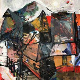 Jonsy-Gáll-–-Vlkolínec-akryl-na-plátne-predajna-galeria