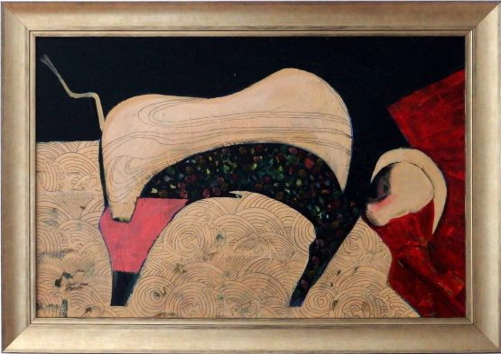Ladislav-Majoroši-ESPAŇA-COVID-II.-akryl-grafit-vytvarne-umenie