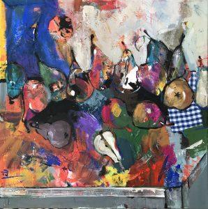 Jonsy-Gáll-–-Hrušky-akryl-na-plátne-predajna-galeria