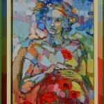 Miro Pribiš - BECHA, olejomaľba na plátno na doske, 56 x 44,5 cm s rámom, 2020