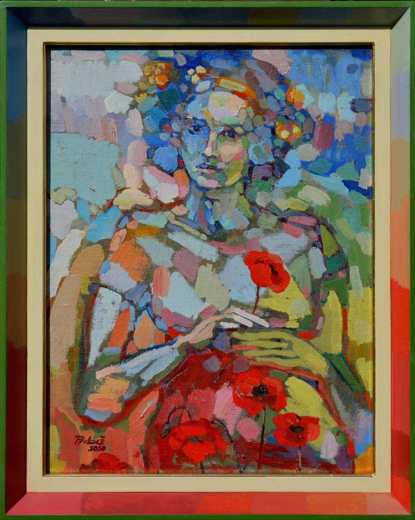 Miro Pribiš – BECHA, olejomaľba na plátno na doske, 2020