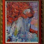 Miro Pribiš - Tak čo je s tebou, olejomaľba na plátne, 57 x 47,5 cm so starým rámom, 2020