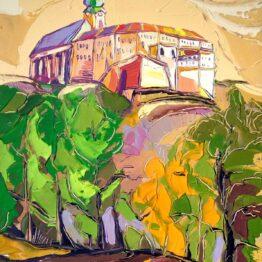 Tomáš-Turzák-–-Žiarivá-jeseň-pod-hradom-akryl-na-plátne-predajna-galeria