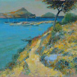 Ján-Bartko-–-Chodník-na-pláž-olejomaľba-plátno-na-sololite-krajinomalba