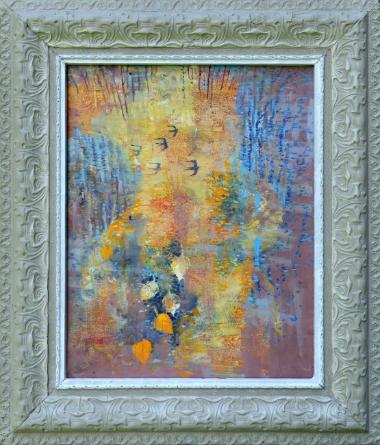Ján-Bartko-–-Lastovičky-odleteli-olejomaľba-na-plátne-slovensky-maliar