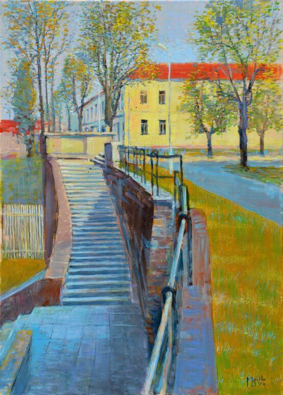 Ján-Bartko-–-Na-Stromoradí-olejomaľba-na-plátne-presovsky-maliar