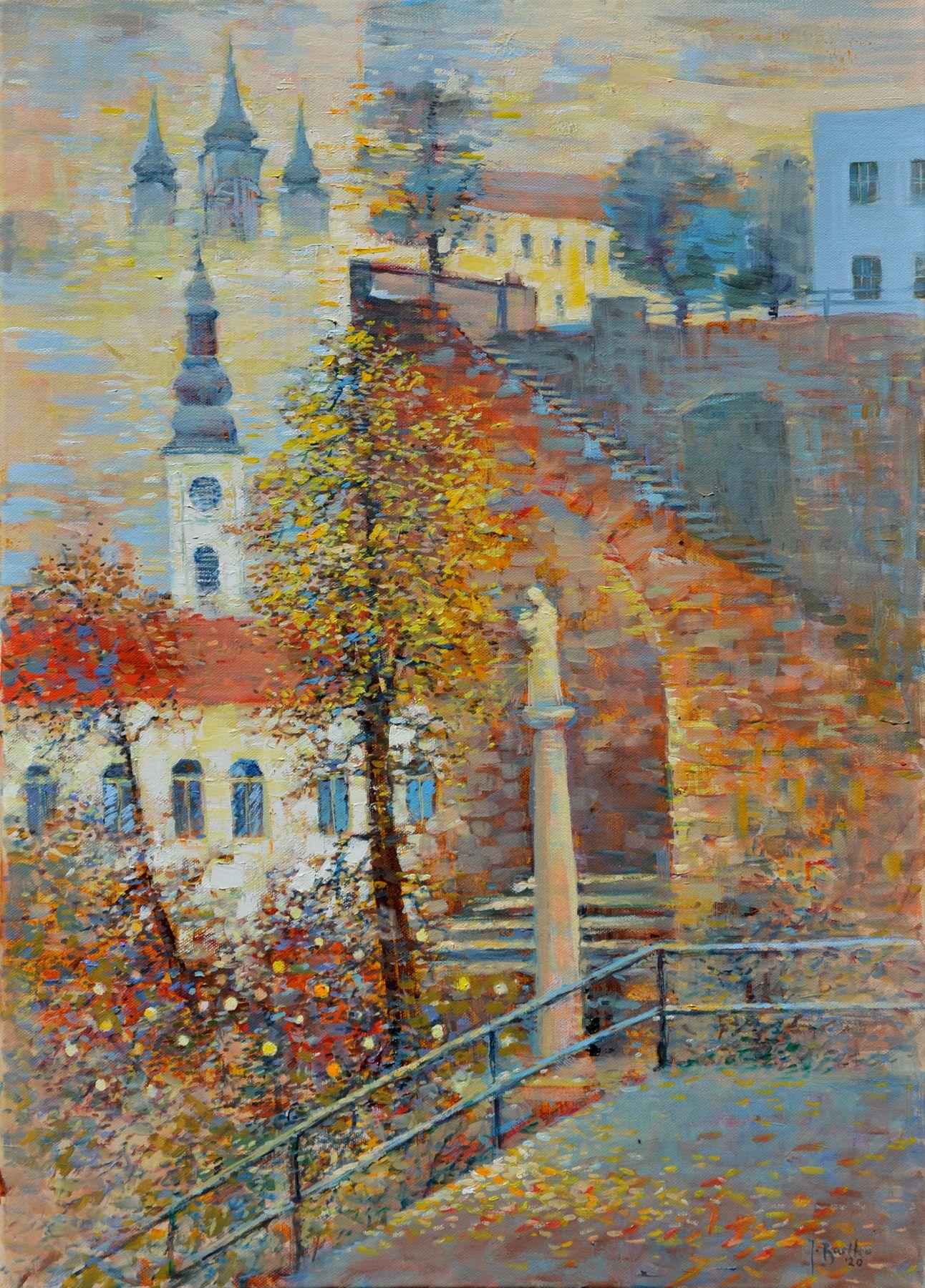 Ján Bartko – Prešovské jesenné pastorále, olejomaľba na plátne, 2020