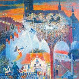 Ján-Bartko-–-Serenáda-pre-dávne-časy-Prešova-olejomaľba-na-plátne-umelecke-dielo