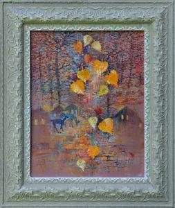 Ján-Bartko-–-Srnky-v-záhradách-olejomaľba-na-plátne-umelecke-dielo