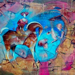 Norbert-Judt-–-Modrý-sen-kombinovaná-technika-na-plátne-sucasna-malba