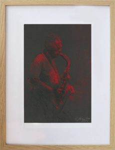 Eva-Kornuciková-David-Gilmour-Red-sky-at-night-suchý-pastel-umenie