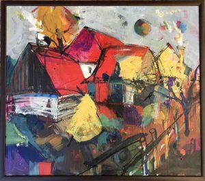 Jonsy-Gáll-Dvor-akryl-moderna-malba-originalne-umenie