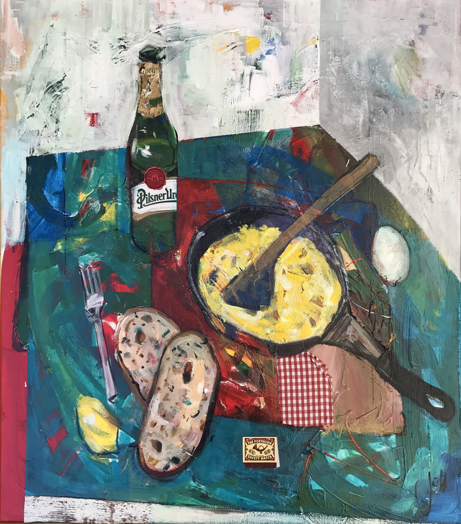 Jonsy Gáll – Praženica, akryl na plátne
