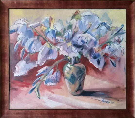Ladislav-Majoroši-–-Kosatce-olejomaľba-na-plátne-dielo-galeria