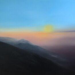 Jana-Čepa-Úsvit-olejomaľba-na-plátne-krajinomalba