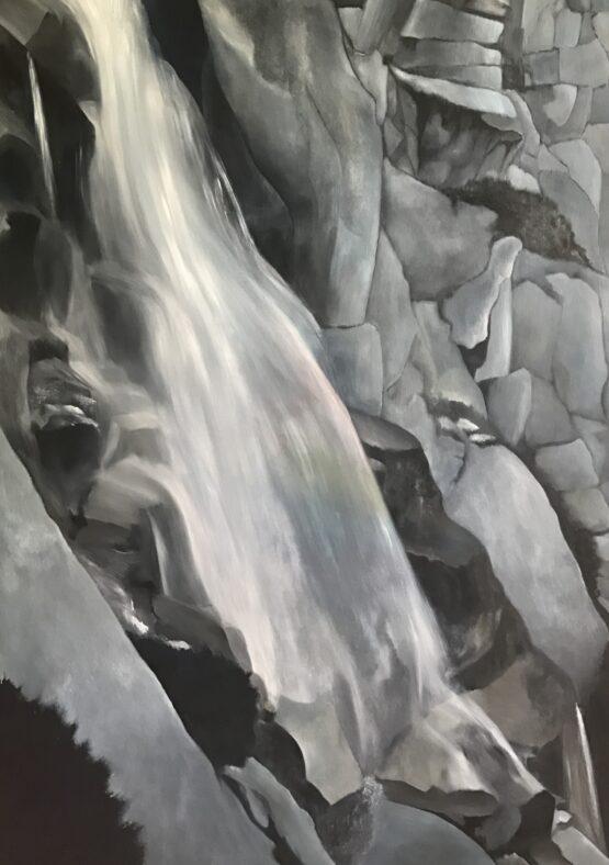 Jana-Čepa-Dúhový-vodopád-olejomaľba-na-plátne-sucasne-umenie