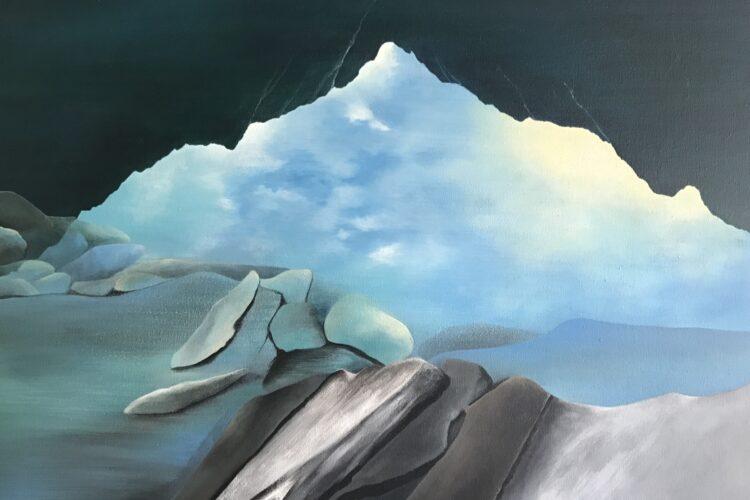 Jana-Čepa-Morské-oko-akryl-na-plátne-umelecke-diela