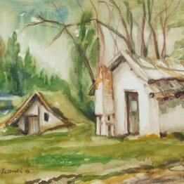 Margita-Rešovská-–-Dávna-minulosť-1-akvarel-na-akvarelovom-papieri-predaj-obrazov