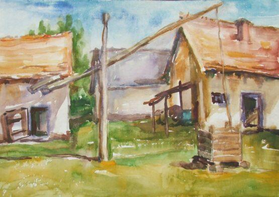 Margita-Rešovská-–-Dávna-minulosť-2-akvarel-na-akvarelovom-papieri-predajna-galeria