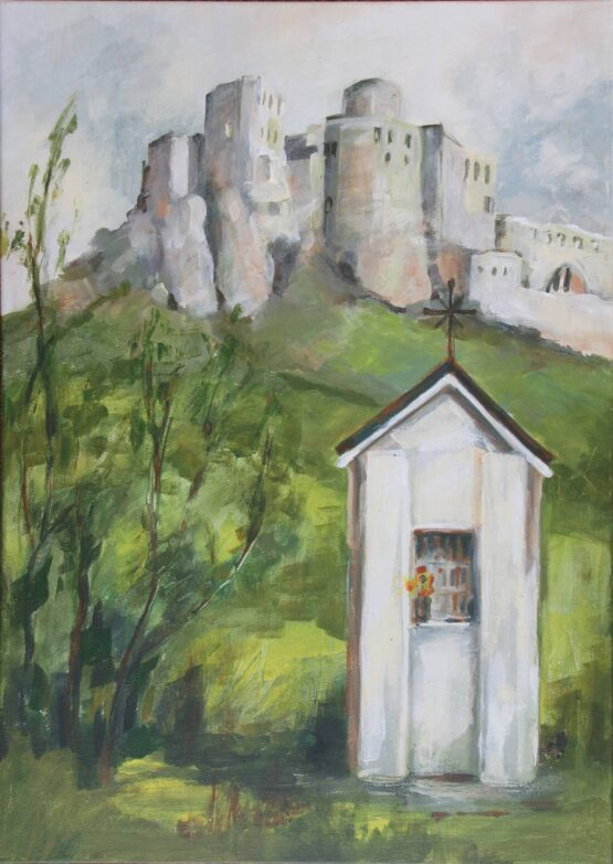 Margita-Rešovská-–-Spišský-hrad-akryl-plátno-obrazy-na-predaj