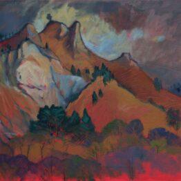 Miroslav-Bucher-–-Portrét-zeme-–-Skaly-olejomaľba-na-plátne-predaj-umeleckych-diel
