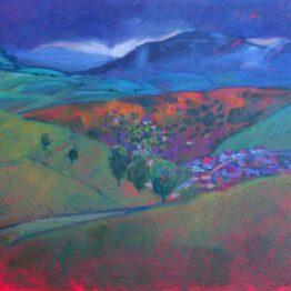 Miroslav-Bucher-–-Portrét-zeme-–-Večer-olejomaľba-na-plátne-umelecke-dielo