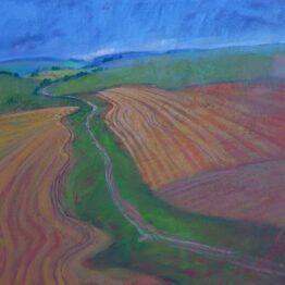 Miroslav-Bucher-Portrét-zeme-Daždivý-deň-olejomaľba-na-plátne-dielo