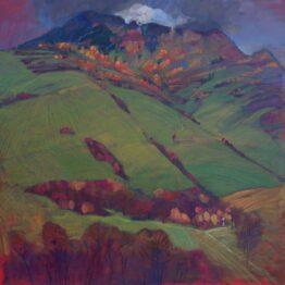 Miroslav-Bucher-Portrét-zeme-Kríž-pod-Spáleniskom-olejomaľba-na-plátne-vytvarne-umenie