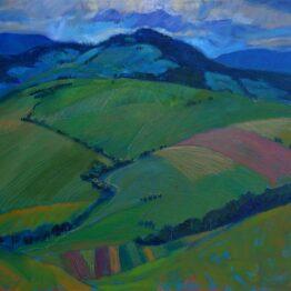 Miroslav-Bucher-Portrét-zeme-Leto-olejomaľba-na-plátne-vytvarne-umenie