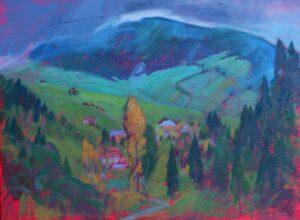 Miroslav-Bucher-Portrét-zeme-V-doline-olejomaľba-na-plátne-umelecke-diela