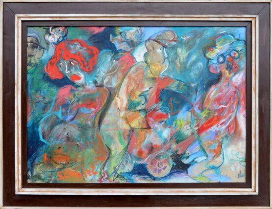 Dušan-Scholtz-Cisárova-nová-Kára-pastel-na-kartóne-figurálna-maľba