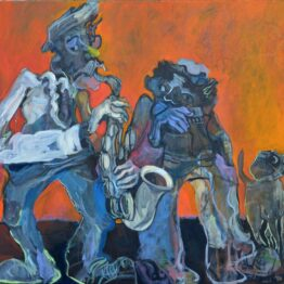 Dušan-Scholtz-Trio-olejomaľba-na-plátne-predaj-obrazov