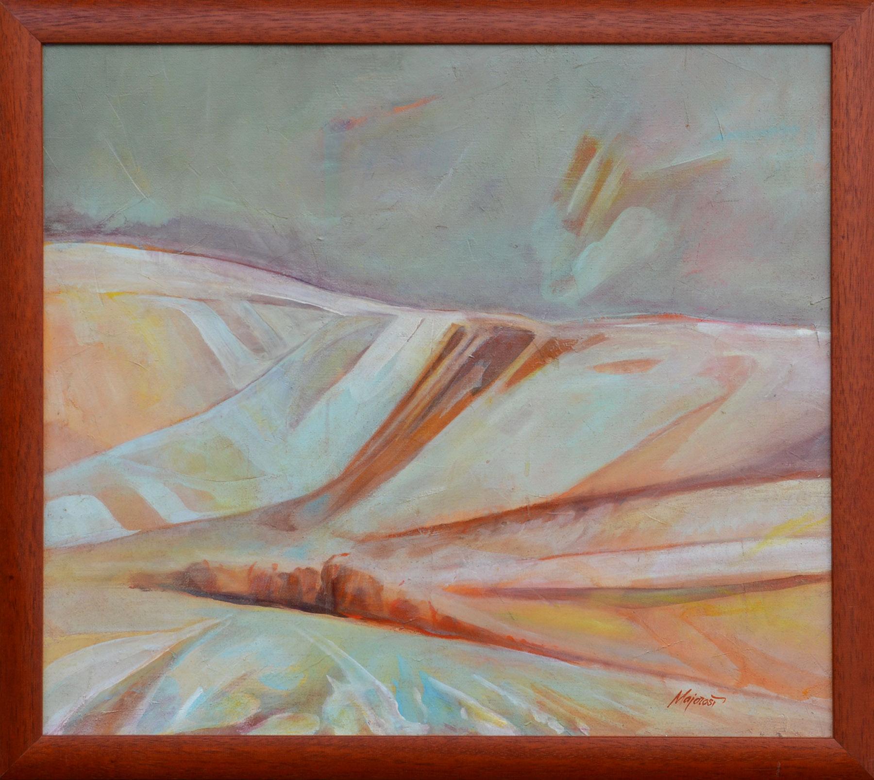 Ladislav Majoroši – Zimné poludnie, akryl na sololite, 2005