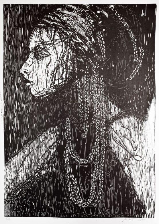 Miriam-Kavuličová-Tomašiaková-Žena-linoryt-papier-graficky-list