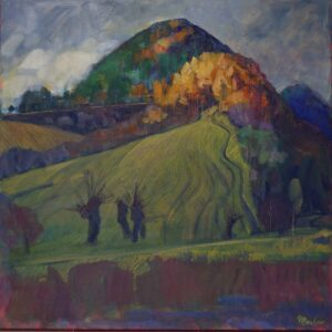 Miroslav-Bucher-Portrét-Zeme-Jeseň-na-Balážke-olejomaľba-na-plátne-dielo