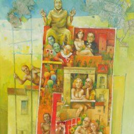 Ján-Koválik-Principál-olejomaľba-na-plátne-figuralna-malba