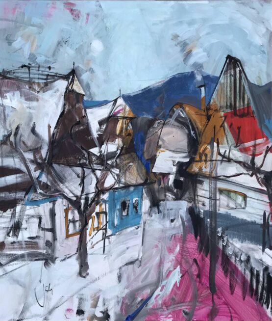 Jonsy-Gáll-Zima-akryl-na-plátne-predajna-galeria