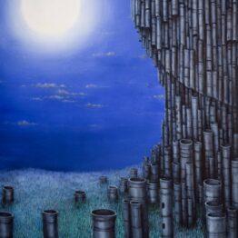 Peter-Šoltó-Modrá-sonáta-olejomaľba-na-plátne-galeria-umenia