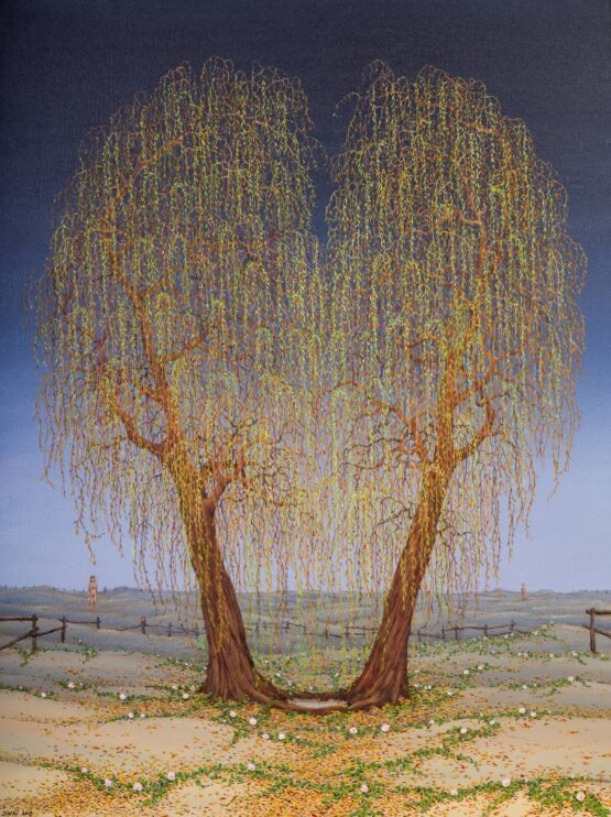 Peter-Šoltó-Oáza-lásky-svet-olejomaľba-na-plátne-moderne-umenie