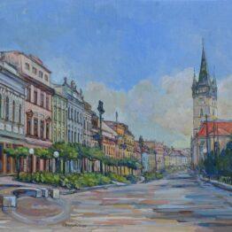 David Eperjesi - Prešov, olejomaľba, plátno na preglejke