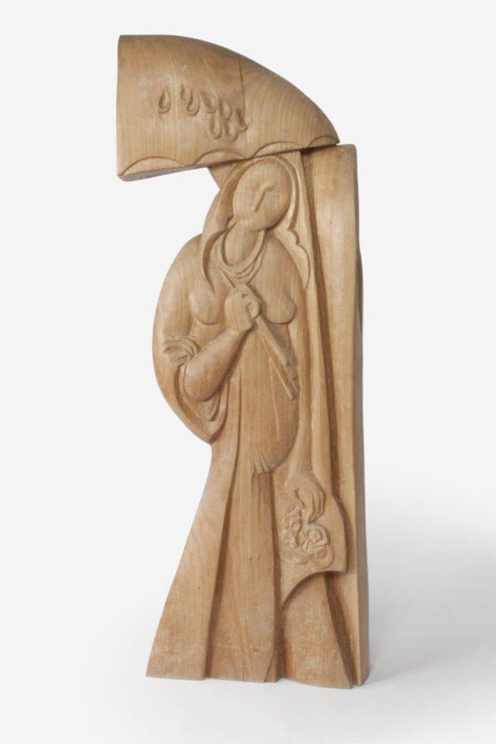 Peter-Klimek-Žena-s-dáždnikom-brest-socharstvo