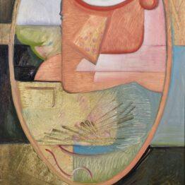 Peter-Klimek-Žena-v-zrkadle-olej-na-doske-predajna-galeria