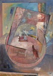 Peter-Klimek-Láska-v-cirkuse-olej-na-doske-galeria-umenia