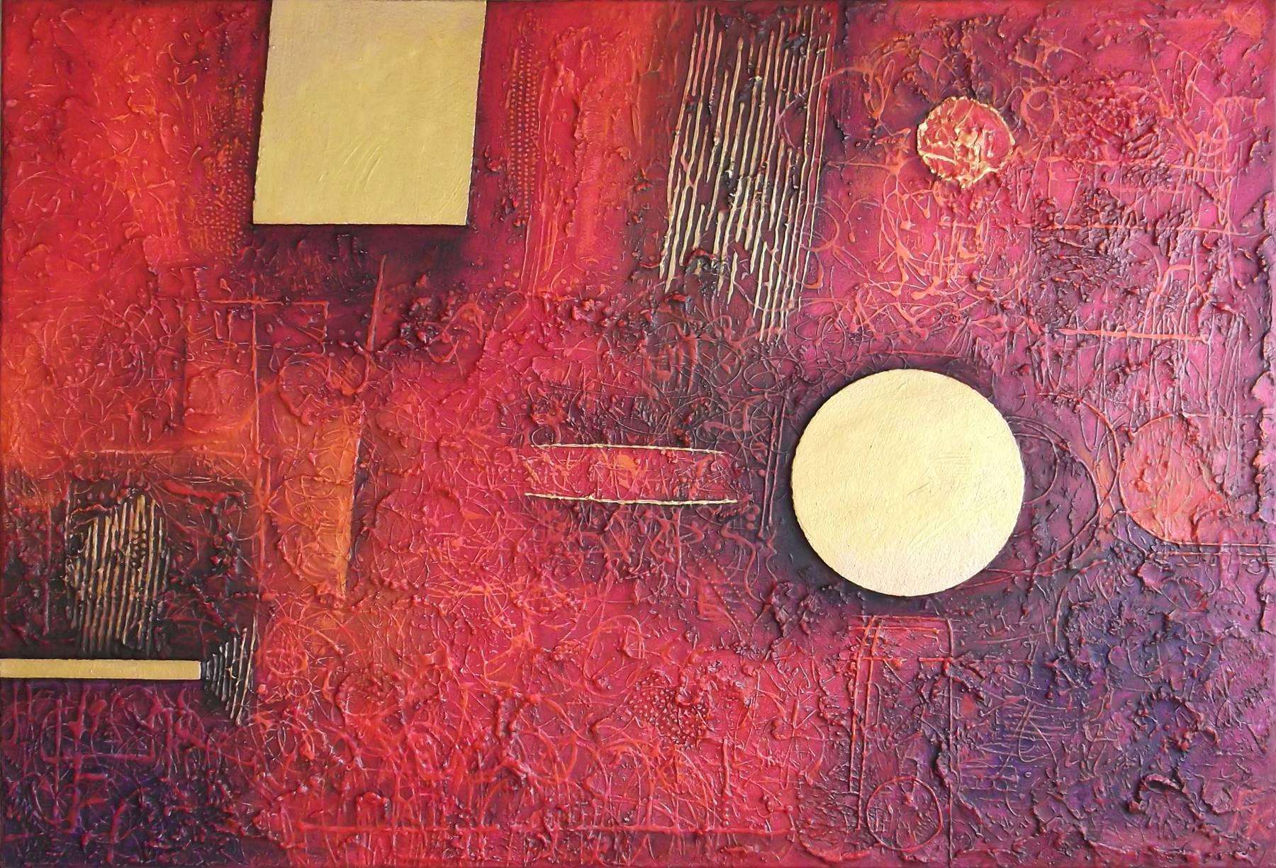 Fero Kučo – Z vášne zlato, olej a špeciálna technika na plátne