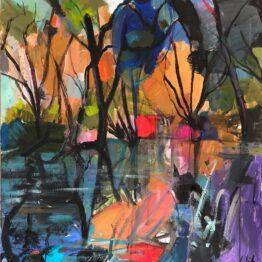 Jonsy-Gáll-Bažina-akryl-a-olej-na-plátne-predaj-obrazov