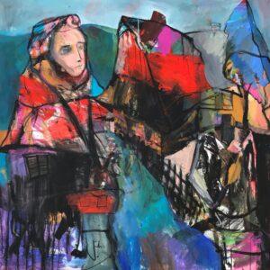 Jonsy-Gáll-Na-Liptove-akryl-na-plátne-slovenske-umenie