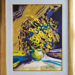 Tomáš-Turzák-Zlaté-kvety-akryl-na-plátne-a-zlatý-pigment-galeria-umenia