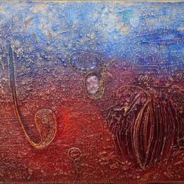 Fero-Kučo-Život-je-plný-života-olej-a-špeciálna-technika-na-plátne-