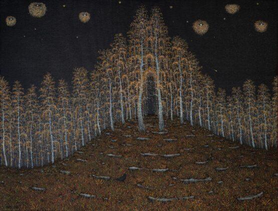 Peter-Šoltó-O-iných-svetoch-olejomaľba-na-plátne-nadrealizmus